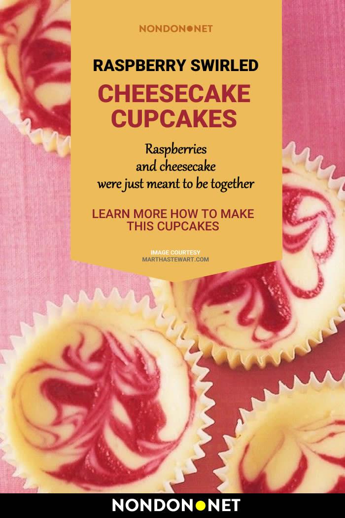 Raspberry Swirled Cheesecake Cupcakes Recipe #Raspberry #Cheesecake #Cupcakes #Recipe #RaspberryRecipe #CheesecakeRecipe #CupcakesRecipe #CupcakeRecipe #Cupcake #grahamcracker #creamcheese #cheese #vanillaextract #holidayRecipe #holidayCakes #holidayCake #dessert #Raspberries