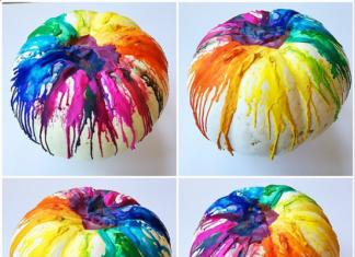 DIY Melted Crayon Pumpkin Decorating