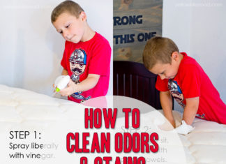 HOW TO CLEAN ODORS AND STAINS FROM YOUR MATTRESS