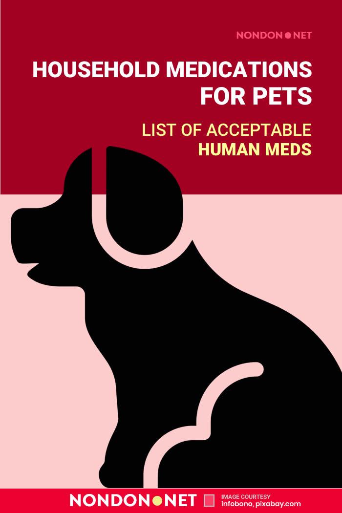 Household Medications for Pets- List of Acceptable Human Meds #Medications #HouseholdMedications #MedicationsforPets #PetsMedications #DogMedications #CatMedications #HumanMedicine #Medicine #Neosporin #Benadryl #PetsCharts #PetsChart