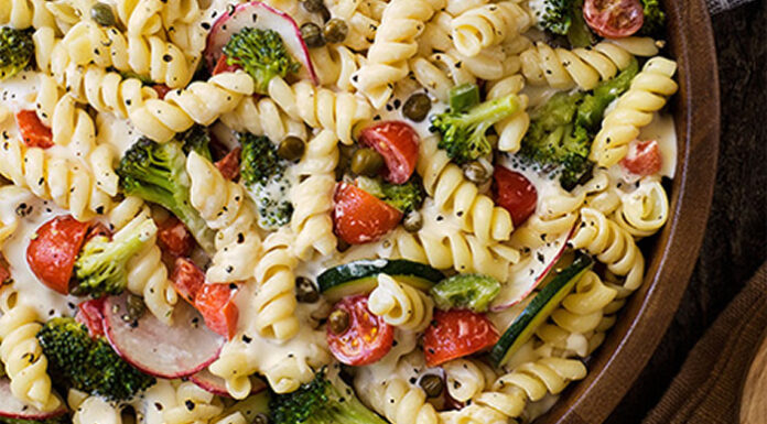 Ranch Pasta Primavera Salad- Very Fresh, Colorful, and Vitamin and Nutrient Rich Salad