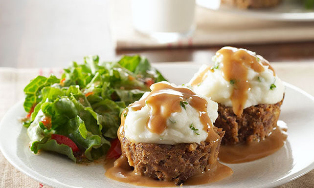 Potato-Topped Muffin Tin Meatloaf