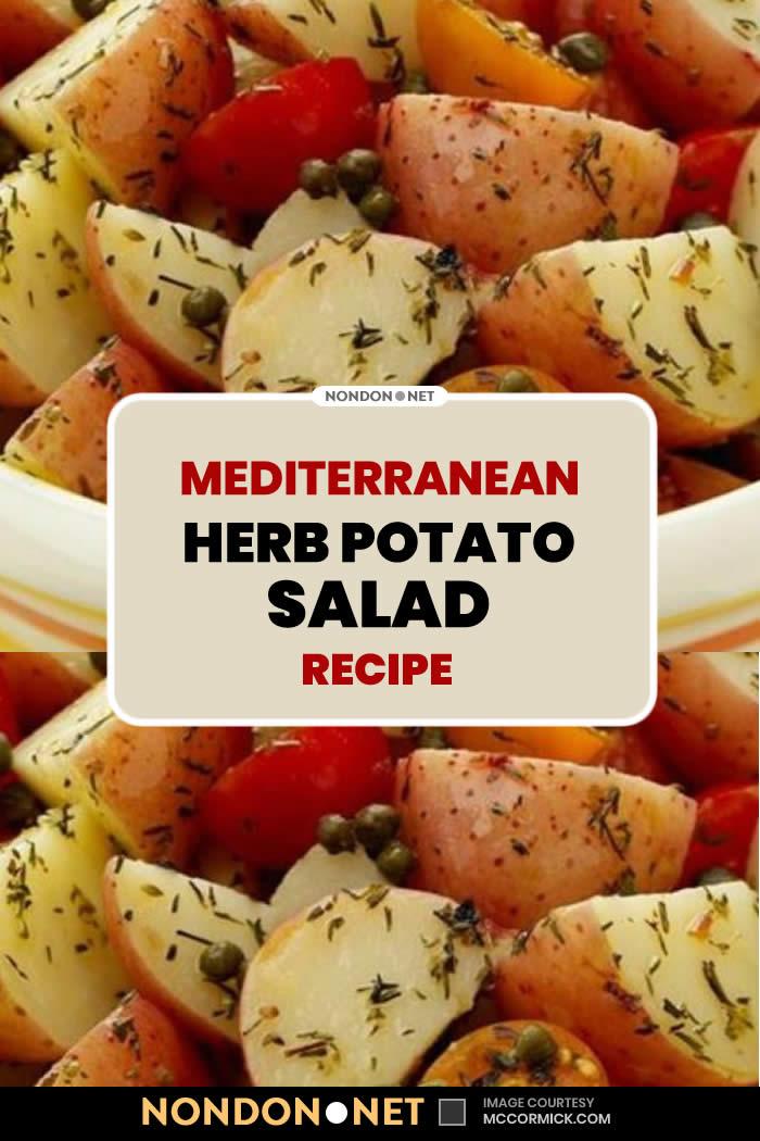 Mediterranean Herb Potato Salad Recipe #Mediterranean #Herb #PotatoSaladRecipe #PotatoSalad #PotatoRecipe #SaladRecipe #Salad #MediterraneanRecipe #MediterraneanRecipe #oliveoil #vinegar #whitewine #OreganoLeaves #Oregano #ThymeLeaves #Thyme #cherrytomatoes #cherry #tomatoes #cherrytomato #ItalianSalad #Italianfood