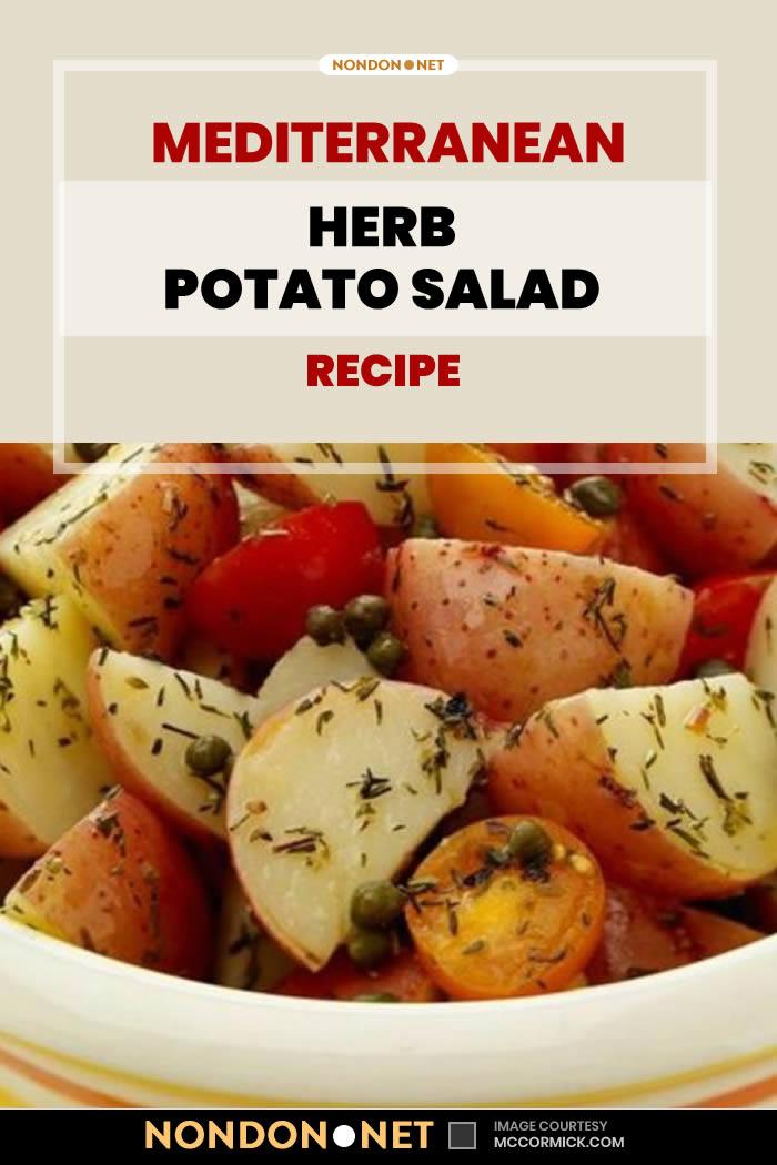 Mediterranean Herb Potato Salad Recipe #Mediterranean #Herb #PotatoSaladRecipe #PotatoSalad #PotatoRecipe #SaladRecipe #Salad #MediterraneanRecipe #MediterraneanRecipe #oliveoil #vinegar #whitewine #OreganoLeaves #Oregano #ThymeLeaves #Thyme #cherrytomatoes #cherry #tomatoes #cherrytomato #SaladRecipes