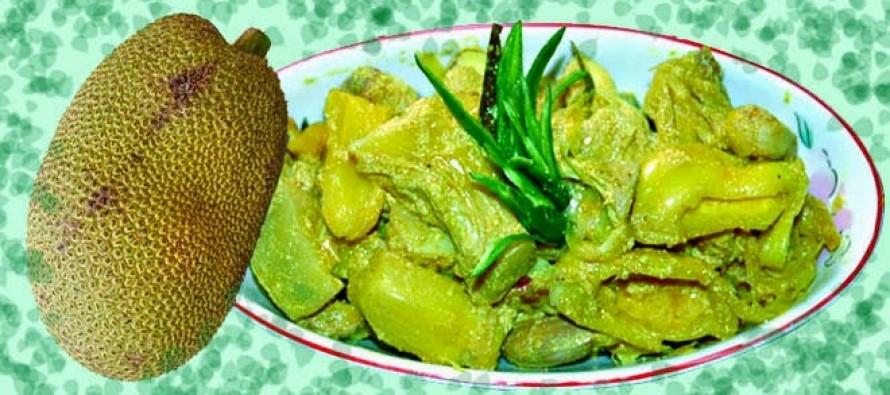 One curry cooked with Green Jackfruit or Kanthal. nondonblog