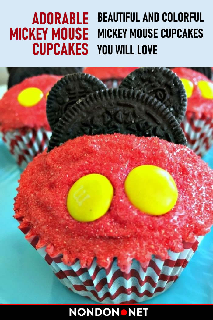 Adorable Mickey Mouse Cupcakes. Beautiful and Colorful Mickey Mouse Cupcakes, You will love. #MickeyMouse #MickeyMouseCupcakes #Cupcakes #Cupcake #ColorfulCupcake #MinnieMouse