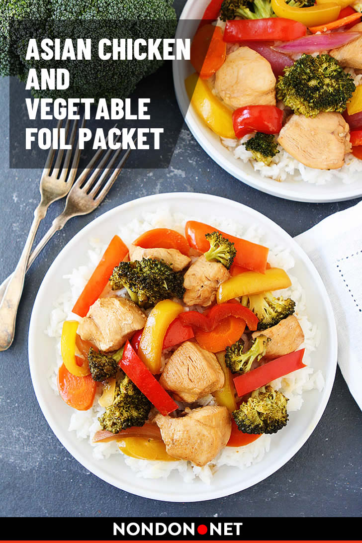 Asian Chicken and Vegetable Foil Packet- 15 Delicious and Easy Foil Pack Dinners #Chicken #Vegetable #FoilPacket #FoilPackDinners #FoilPack #ChickenRecipe #VegetableRecipe #FoilPackRecipe #Delicious #DeliciousFood #EasyFood #EasyRecipe