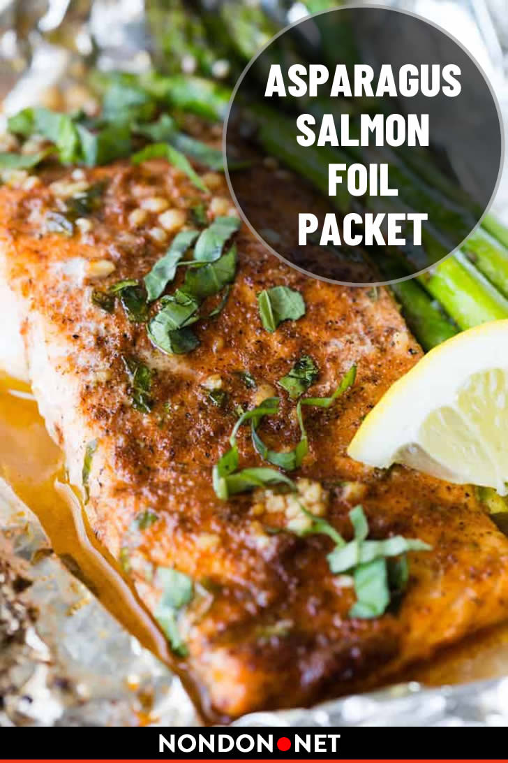 Asparagus Salmon Foil Packet- 15 Delicious and Easy Foil Pack Dinners #FoilPacket #FoilPackDinners #FoilPack #Asparagus #AsparagusRecipe #SalmonRecipe #Salmon #FoilPackRecipe #Delicious #DeliciousFood #EasyFood #EasyRecipe