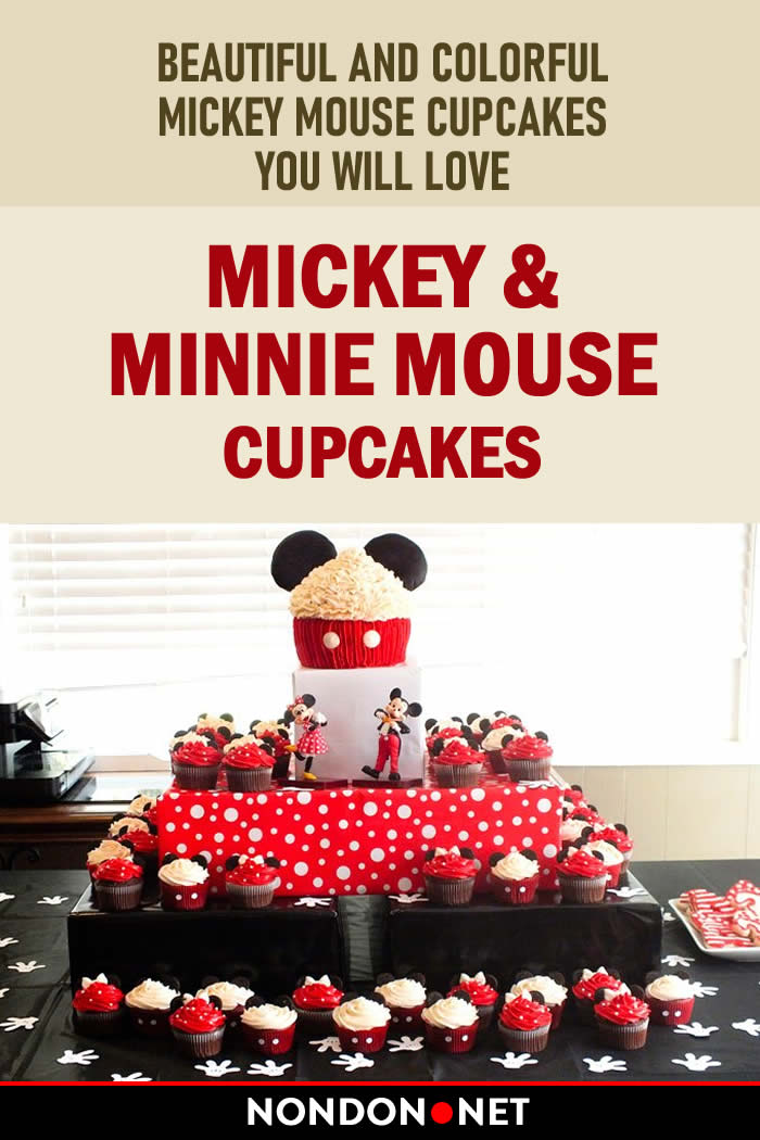 Mickey & Minnie Mouse Cupcakes. Beautiful and Colorful Mickey Mouse Cupcakes, You will love. #MickeyMouse #MickeyMouseCupcakes #Cupcakes #Cupcake #ColorfulCupcake #MinnieMouse