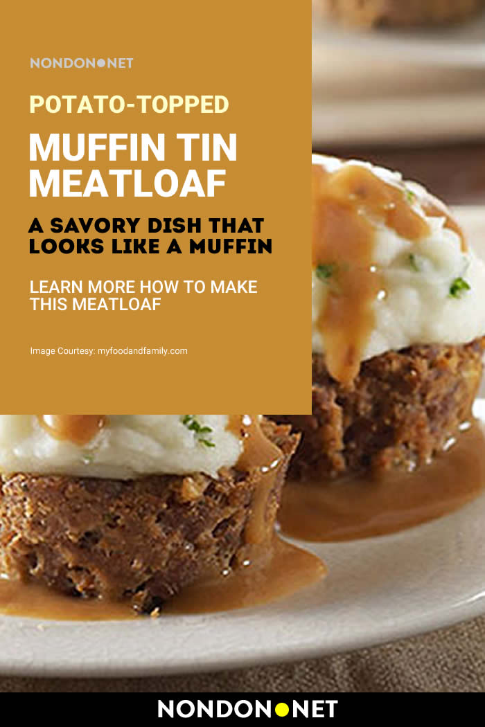 Potato-Topped Muffin Tin Meatloaf - A Savory Dish That Looks Like a Muffin #Potato #Muffin #SavoryDish #Meatloaf #TinMeatloaf #ToppedMuffin #MuffinTin #BigRed #CheddarCheese #Cheese #BeefGravyMix #BeefGravy #MeatloafRecipe #quickRecipe #SimpleRecipe #BBQSauce