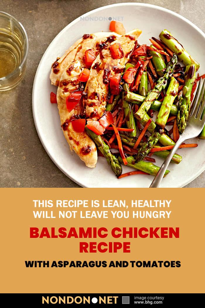 Balsamic Chicken Recipe with Asparagus and Tomatoes #BalsamicChicken #ChickenRecipe #Asparagus #Tomatoes #BalsamicRecipe #Balsamic #Mediterranean #ItalianRecipe #Balsamicvinegar #MainDish #SideDish #Wildflowerhoney #AmazonFresh #oliveoil #carrot #Colavita