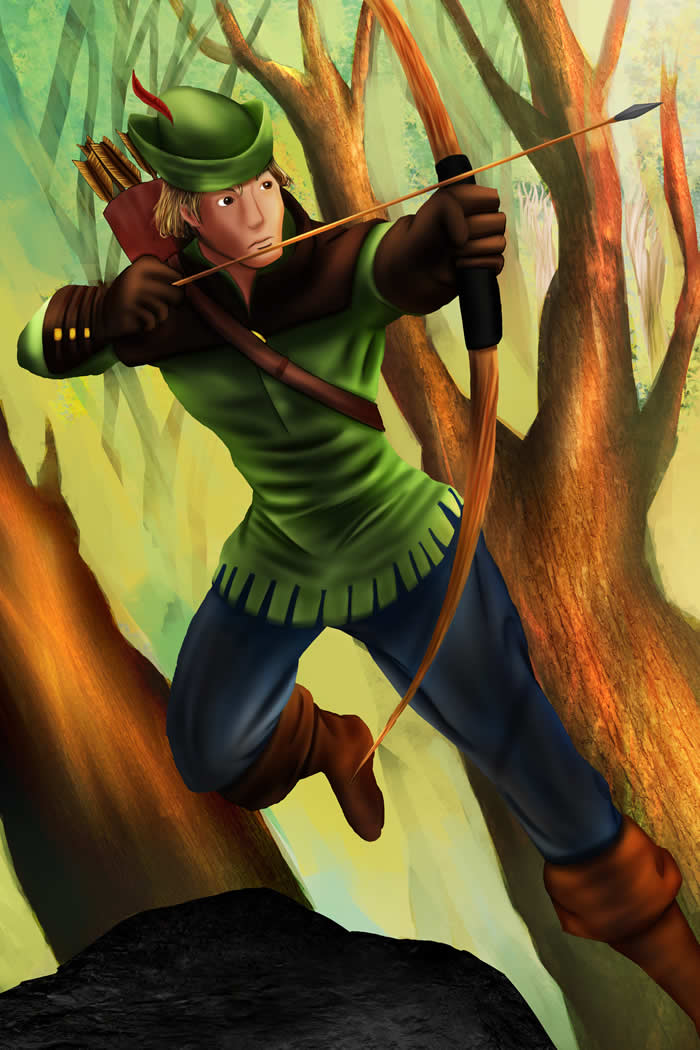 Digital Illustration Project Robin Hood by Joshua Chew
