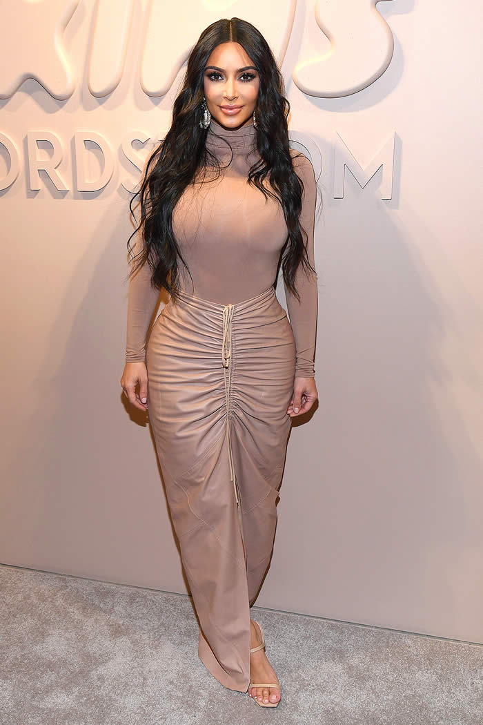 Kim Kardashian West celebrates the launch of SKIMS at Nordstrom NYC on February 05, 2020 in New York City.