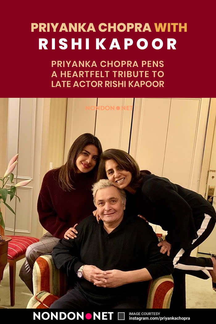 Priyanka Chopra with Rishi Kapoor- Priyanka Chopra Pens a Heartfelt Tribute to Late Actor Rishi Kapoor #PriyankaChopra #Priyanka #Chopra #RishiKapoor #Rishi #Kapoor #Tribute #Actor #Actress #IndianActor #IndianActress #Bollywood #BollywoodMovies #BollywoodActor #BollywoodActress #BollywoodMovie #IndianMovie #IndianCenema #IndianMovies