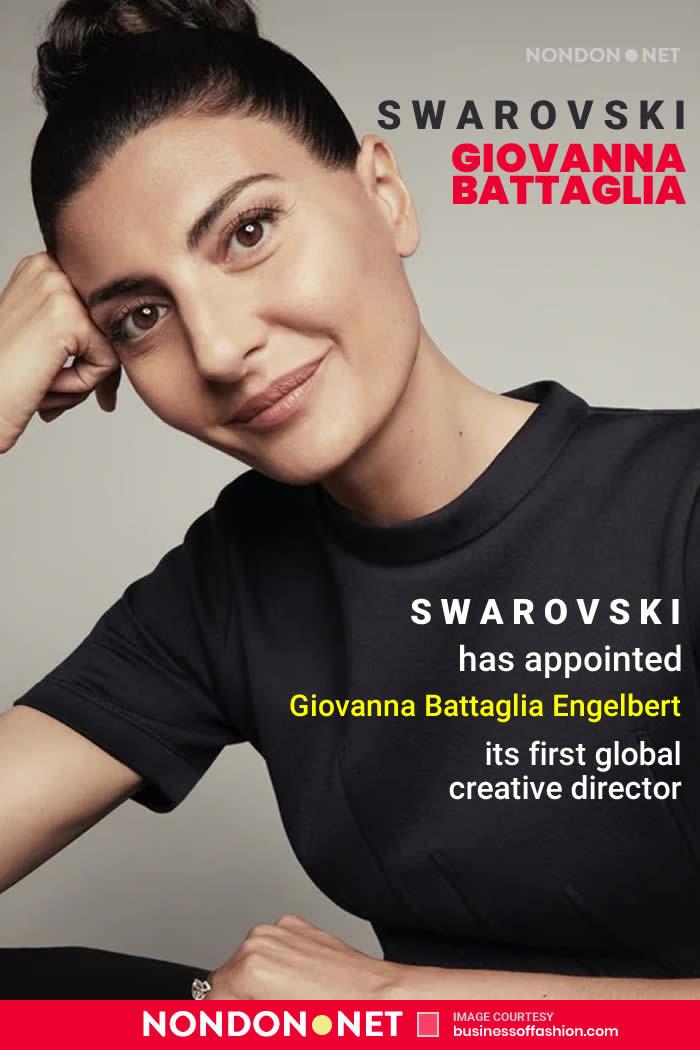 Swarovski has appointed Giovanna Battaglia Engelbert its first ever global creative director #Swarovski #GiovannaBattagliaEngelbert #GiovannaBattaglia #Giovanna #BattagliaEngelbert #GiovannaEngelbert #Giovanna #Fashion #FashionNews #B2B