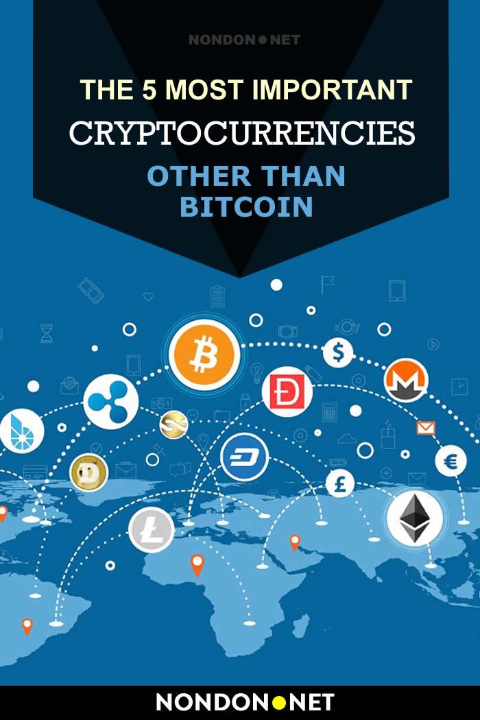 The 5 Most Important Cryptocurrencies other than Bitcoin #Cryptocurrencies #Crypto #Bitcoin #Ripple #XRP #Dash #Zcash #ZEC #Litecoin #LTC #Ethereum #ETH #investopedia #coinmarketcap