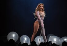 Jennifer Lopez performs during a stop of her It's My Party tour at T-Mobile Arena on June 15, 2019 in Las Vegas, Nevada. Photo by Ethan Miller/Getty Images via Time.com