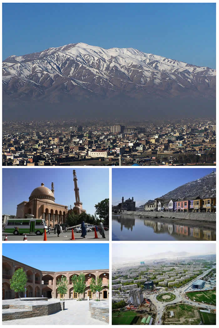 Montage of Kabul City, Afghanistan