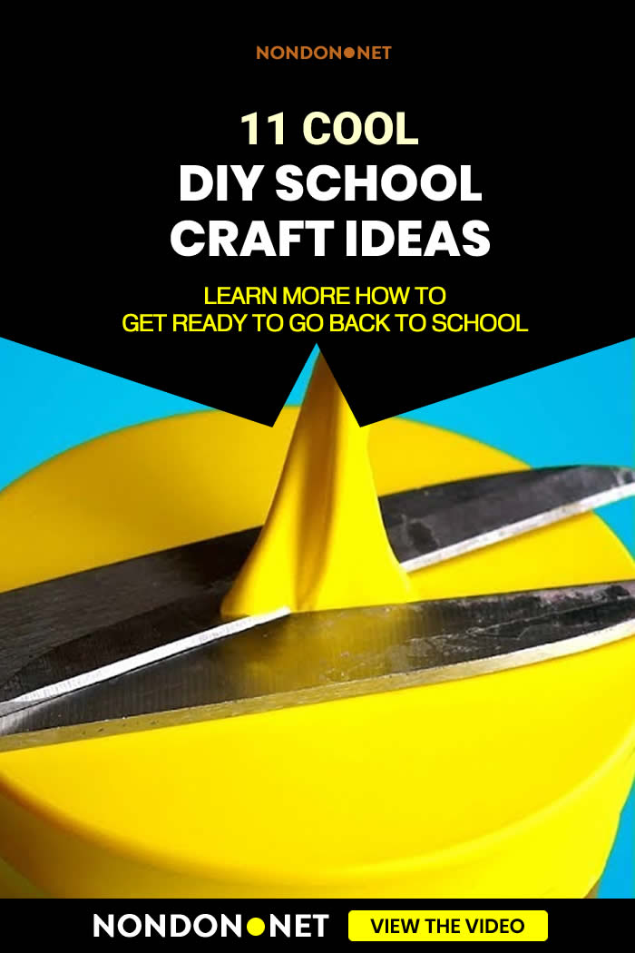 11 Cool DIY School Craft Ideas- Going Back to School. The school year will start sooner or later so you'd better get ready to go back to school! We can help you with our cool school hacks!