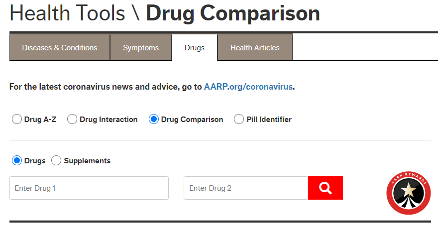 Multidrug Interactions Checker from AARP's Health Tools